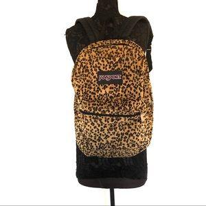 Jansport Faux Fur Leopard Print Backpack